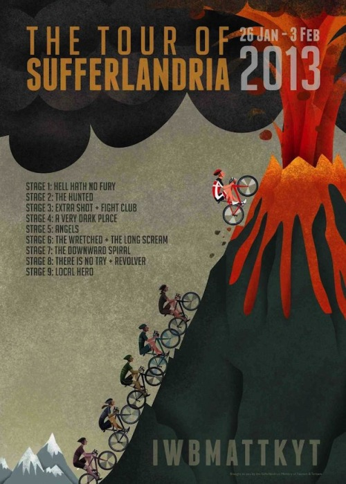 Check out The Sufferfest website for more information and get ready for the 26th January when the Tour of Sufferlandria 2013 kicks off.