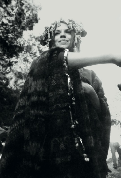 Untitled (Girl in Cape & Headdress) - Dennis Hopper, 1967.