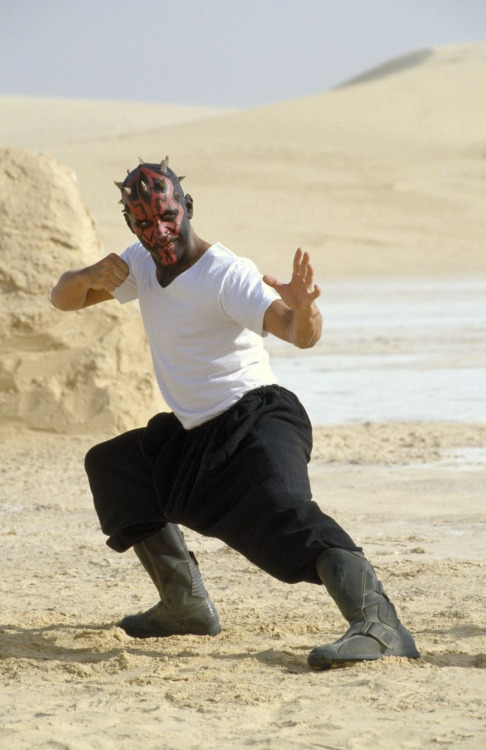 webofstarwars:  Ray Park behind the scenes of The Phantom Menace.