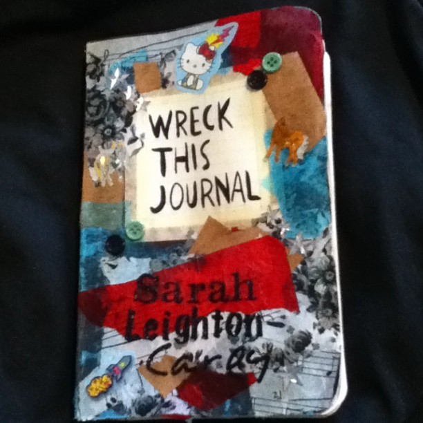 I did some Journal wrecking 🎨📚 #wreckthisjournal #kerismith #decopatch #paper #glue #art #craft #hobbycraft #creative