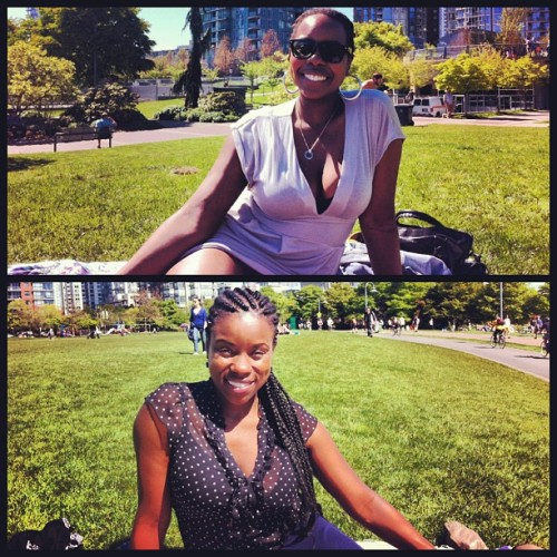 Day in the park with @therealsanoviaw #sunny #beautiful #vancity #vancouver #sisters #davidlampark #blackgirls #sun #cuties #ilovelife #pretty #park
