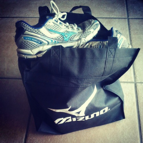 Biting the bullet & donating a bag full o' @mizunorunning shoes to @rrsports. Sad to see them go but grateful for the times spent in them. Will only be a small dent in my collection but it's a step. #BrilliantRun #fitgear #mezamashii