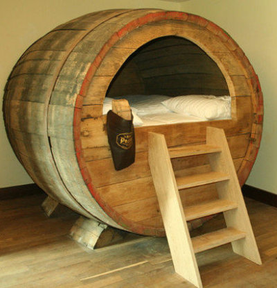 2013 Vacation Plans: Journey to Germany to sleep in this giant beer barrel bed.