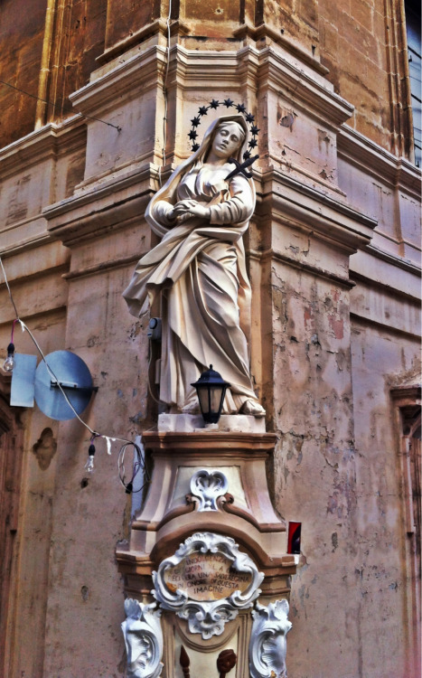 A street shrine for Our Lady of Sorrows in Senglea, Malta.