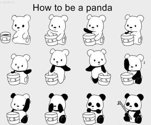 tiffy4u:  How to be a panda. - http://whrt.it/Y0MAnh