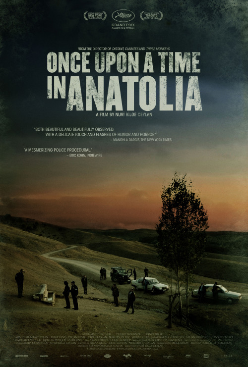 #138 Once Upon a Time In Anatolia (2011) Dir. Nuri Bilge Ceylan  I loved the way this film took the police procedural and took it to it's most primitive, basic form. The first two hours consist of a doctor, a prosecutor, grave diggers and police officers searching for a body with the two serial killers in tow. This is slow, meditative cinema that taps into various psyche's. It takes the morbid and transforms it into the mundane. It's a gripping watch even if it does operate on a more psychological rather than visceral mode.