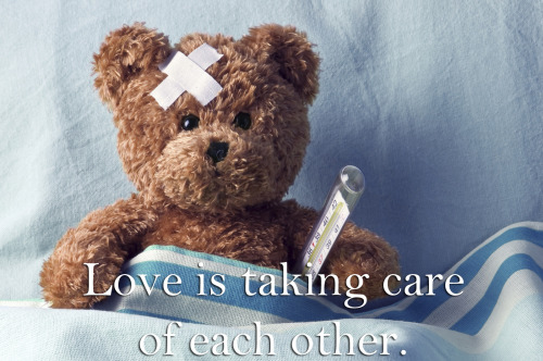 What's your go-to remedy when your sweetie's under the weather? Tell us in your reblog.