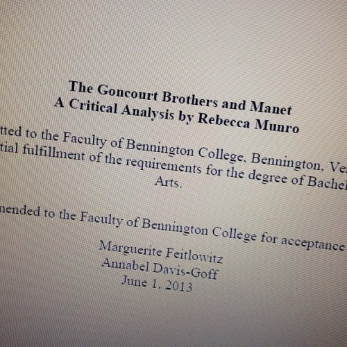 I wrote a thesis once. (at Fels)