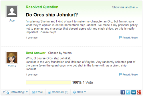 real issues solved by yahoo answers