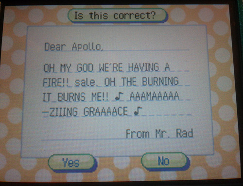 mr-radical:  nook told me to write a letter to apollo about the sale he was having so i    whoops i love you