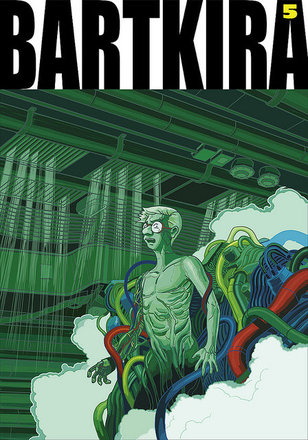 BARTKIRA vol. 5 on Flickr.Mutating Milhouse. #bartkira #akira #simpsons