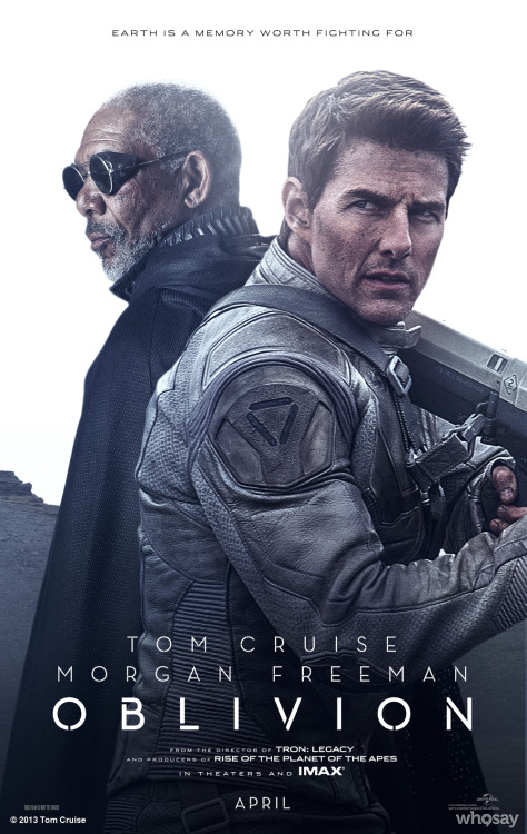 TWO NEW OFFICIAL 'Oblivion' movie Posters featuring Tom & Morgan Freeman released! http://clicky.me/OblivionMoviePosters2 -TeamTCView more Tom Cruise on WhoSay