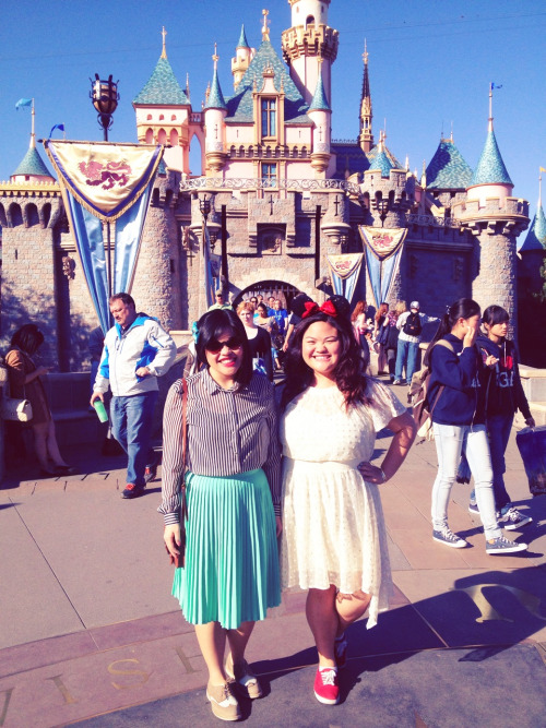 Celebrated Dapper Day at Disneyland!   Skirt [American Apparel], Top [Topshop], Shoes [Halogen], Sunglasses [Eye Candy]   Dress [Anthropologie], Shoes [Target]   -Sweet Potato & Bubblefizzle  [02.27.13]