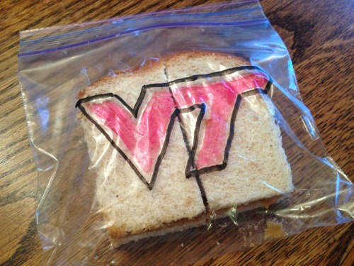 gofightwinvt:  Hokie parenting; you're doing it right.  Awesome. Had to share