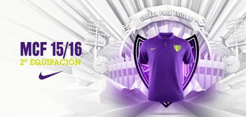Nuevo Nike camiseta del Málaga lejos 2015-2016Sobre la base de la teamwear Nike Desafío camisetas de futbol, la camiseta del Málaga lejos 2015-2016 está completamente infiltrada por la inspiración moderna de los colores púrpura y verde de la bandera de Málaga.Pantalones cortos y calcetines de color púrpura con detalles voltios complementan el sorprendente Nueva segunda equipación del Málaga 2015-16.