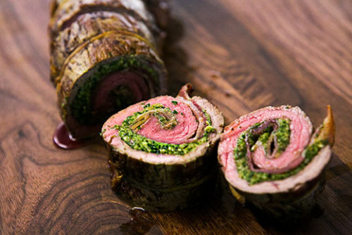 foodopia:  beef roulades with walnut parsley pesto: recipe here