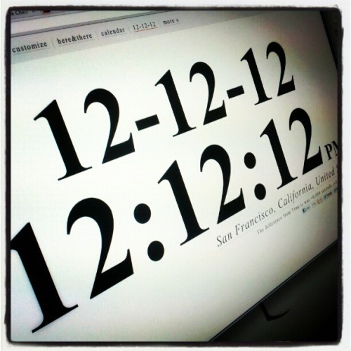 12:12:12 pm on 12/12/12 (at CBS Interactive)