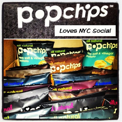 High 5 @popchips for hooking the #nycsocial office up with boxes of #popchips #yummy #popchips #thankyou (at NYC Social Headquarters )