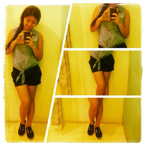 Ano gawa ko? #artelang #instapic #braid #shorts #sneakers
