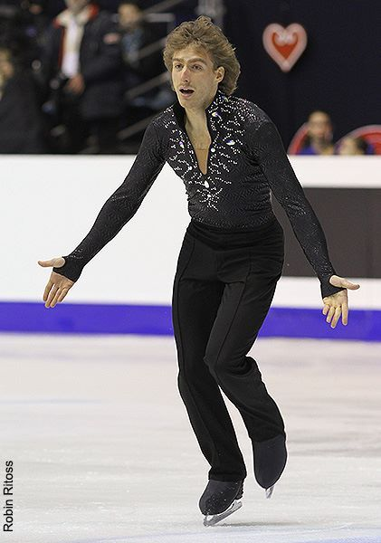 Kim Lucine skating to music by Pink Floyd for his free skate at the 2013 European Championships.