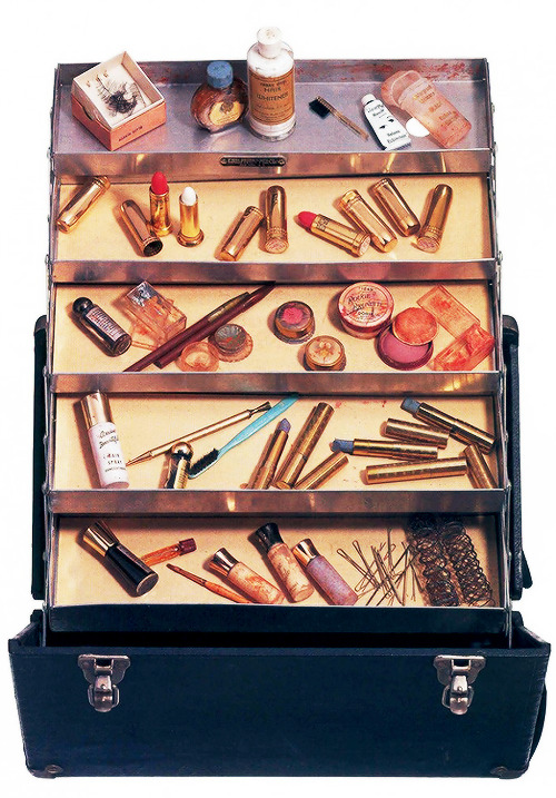 Marilyn Monroe's personally owned makeup case auctioned off at Christies in 1999 for $266,500.
