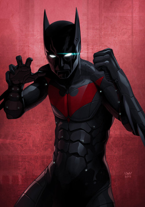 Fan art of the day: Bat Beyond by wyv1