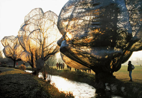 Christo Jeanne-Claude Wrapped Trees 1998 1990s 90s Art Christo & Jeanne-Claude