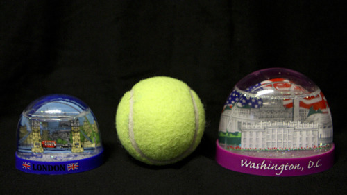 Snow globes smaller than a tennis ball are now OK to bring onboard a plane, and, by the way, so are pies and fruitcakes. But not jars of jam or jelly or cranberry sauce over 3.4 ounces. They must be put in your checked luggage.  (via New TSA Standards: Carry On Small Snow Globes And Pies, Keep Checking Jam : NPR) Photo: Ryan Smith/NPR