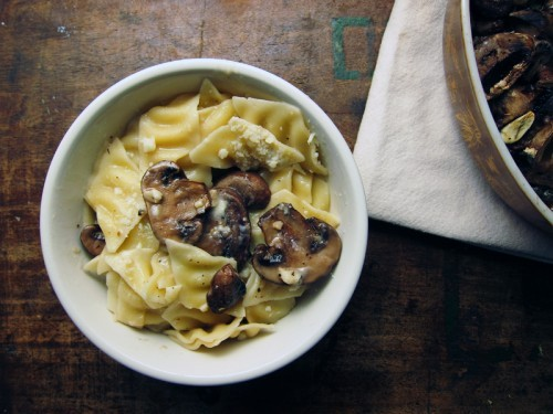 foodopia:  creamy pasta with roasted mushrooms: recipe here