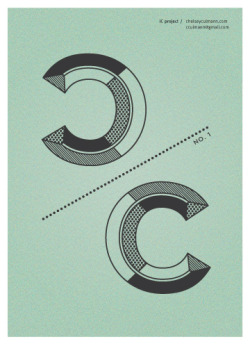 chelseyculmann:  iC project - No. 1 I've always had an issue with the 'C' letterform. This has been incredibly frustrating considering both my first and last name start with it. Since I'm not planning on legally changing my name anytime soon, I figured I'd start a new series exploring different ways I can design with the letterform in hopes that one day I will see the beauty behind it or at least get to the point of acceptance.