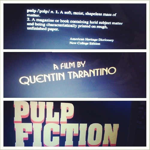 Finally found the time to watch #pulpfiction. #quentintarantino ftw