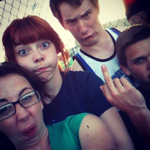 We're attractive I swear #track #friends #uglies #lovethem