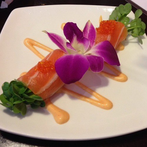 compliments from chef johnny at aniki's. great sushi restaurant in the eastbay.