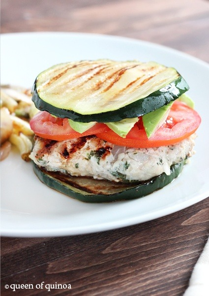 healthier-habits:  Herbed Turkey Burgers with Zucchini Buns Recipe Link: queenofquinoa.me Click here for more healthy recipes!  This. looks. amazing.