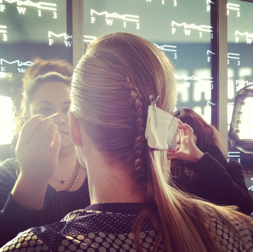 Teen Vogue girls love a good braid! Here's a great one at Alexandre Herchovitch. Photographed by Eden Univer.