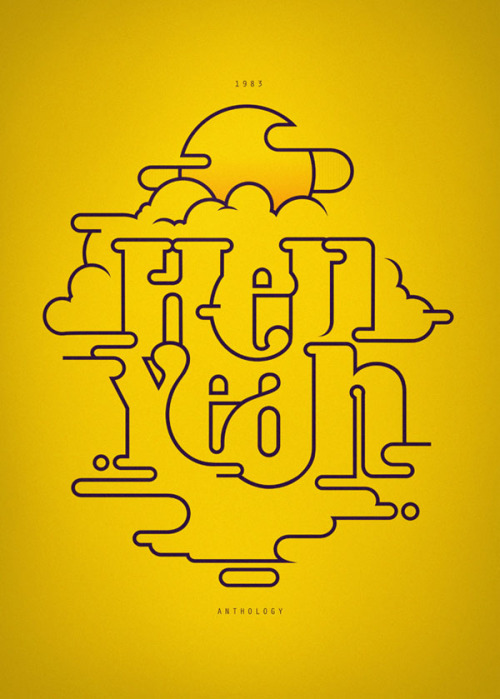 Typographic Illustrations André Beato is a graphic designer and illustrator, born and grown up in Lisbon, Portugal, currently living and working in London. More typographic artworks by André Beato on WE AND THE COLORWATC//Facebook//Twitter//Google+//Pinterest