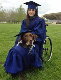 mothernaturenetwork:  Service dog wears cap and gown at graduation Bridget Evans' service dog, Hero, attended all her classes, so she thought he deserved to graduate too.
