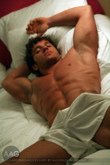 "hotguysguysguys:  MMMMMmmm Morning Glory ;) ""RISE & SHINE"" Who WANTS His Morning Sausage xxxLIKE, REBLOG & Tell Your Friends To FOLLOW Us ;)FOLLOW: http://hotguysguysguys.tumblr.com/   mmmmm…sure made me smile!"