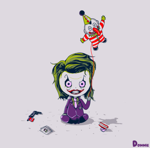 Little Joker by Bruno Clasca (aka Donnie).Catch up with Bruno on tumblr and behance for more awesome pop culture inspired prints and tee designs!