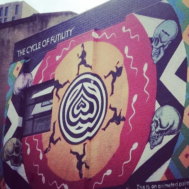 The cycle of futility #art #shoreditch #hoxton #streetart (at Redchurch Street, E1)