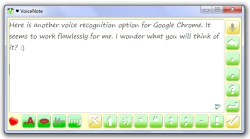 VoiceNote: Another Excellent Voice-to-Text App for Google Chrome Paul Hamilton, edublogs.org I've explored numerous options for voice recognition, some free and others quite expensive. I've tried these applications myself, and I've used them with learners ranging in age from 8 to 68. In my experience, the free voice-to-text options availa…  Great for Widows Netbooks as an alternative to installing Dragon NaturallySpeaking (DNS requires quite a bite more resources then most netbooks have).