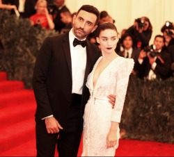 vogue:  Riccardo Tisci and Rooney Mara at the 2013 Met Gala Red Carpet Photographed by Kevin Tachman See the slideshow on Vogue.com