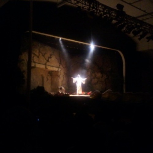 Finally Jesus is risen for the last time!!!!! #PassionPlay2013 #ItIsFinished!