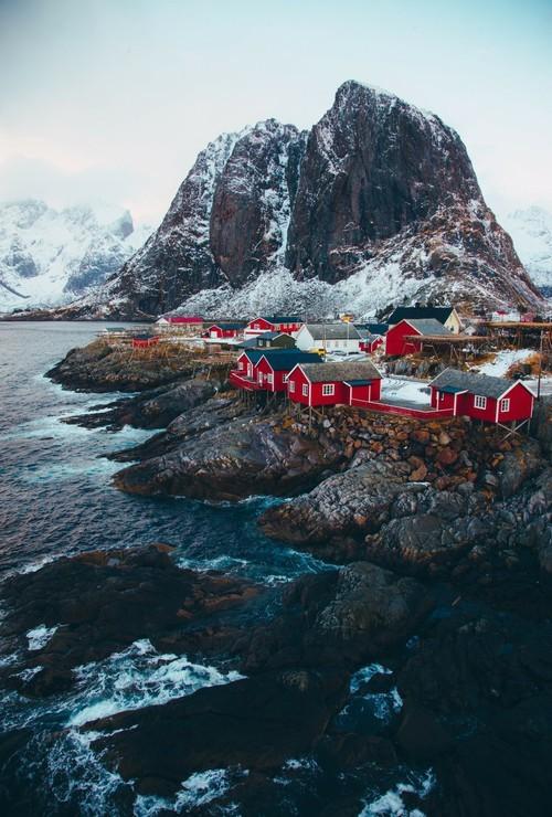 cold design houses scandinavian style lanscape life nature norge norway scandinavia sea travel wanderlust places spirit