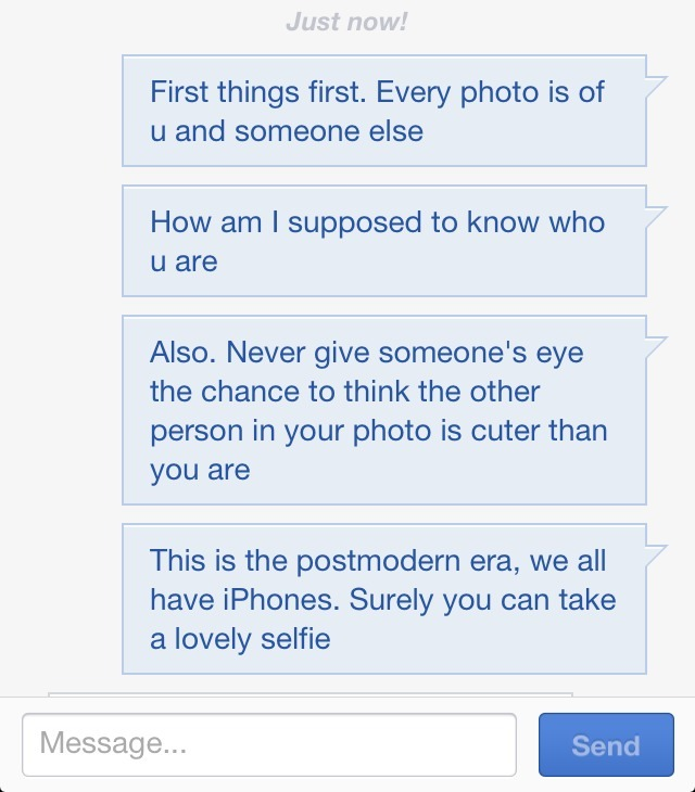 Giving free photo advice on OkCupid. You're welcome.
