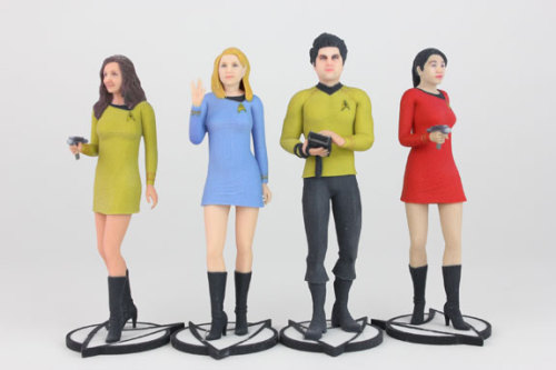 princessjameskirk:  bolderbart:  For $70 you can have a 3D printed Star Trek TOS figurine that looks just like you. They even have a Vulcan option! Pretty cool, if I do say so myself. (x)  PLEAAAAAAAASE