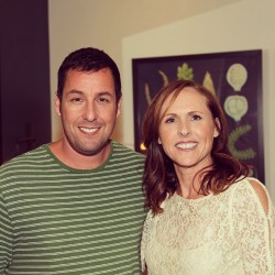 Adam Sandler & Molly Shannon in the green room. #conan #adamsandler #mollyshannon #snl  (at Warner Bros Stage 15)