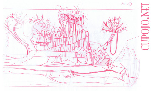 Sketch for the next part of the big Sc12 pan background.