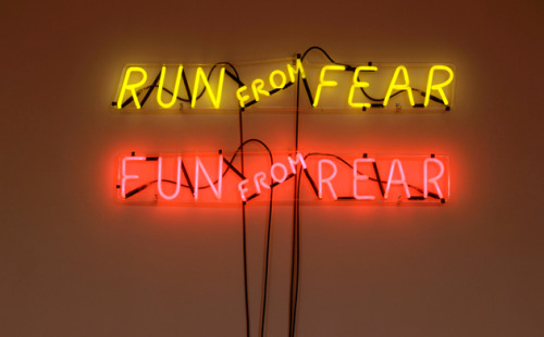 Run from FearFun from RearGun from Dear Bruce Nauman's 'Mindfuck' show