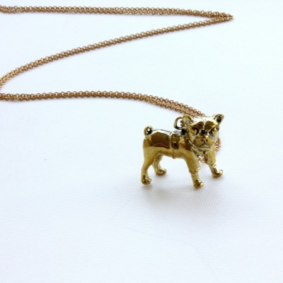 D is for DOGTOOTH || Our beautiful Pug Necklace by Adorable is perfect for this season's dogtooth trend || #nyfw #lfw #fashionweek #dogtooth #fashion